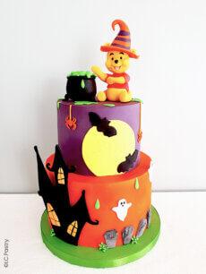 Tuto gâteau décoré Winnie fête Halloween