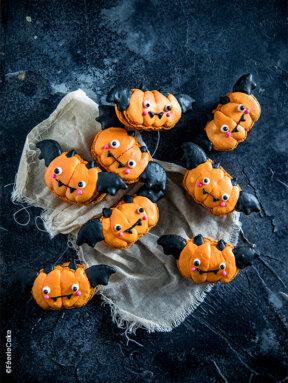 Recette macarons monstres d'Halloween