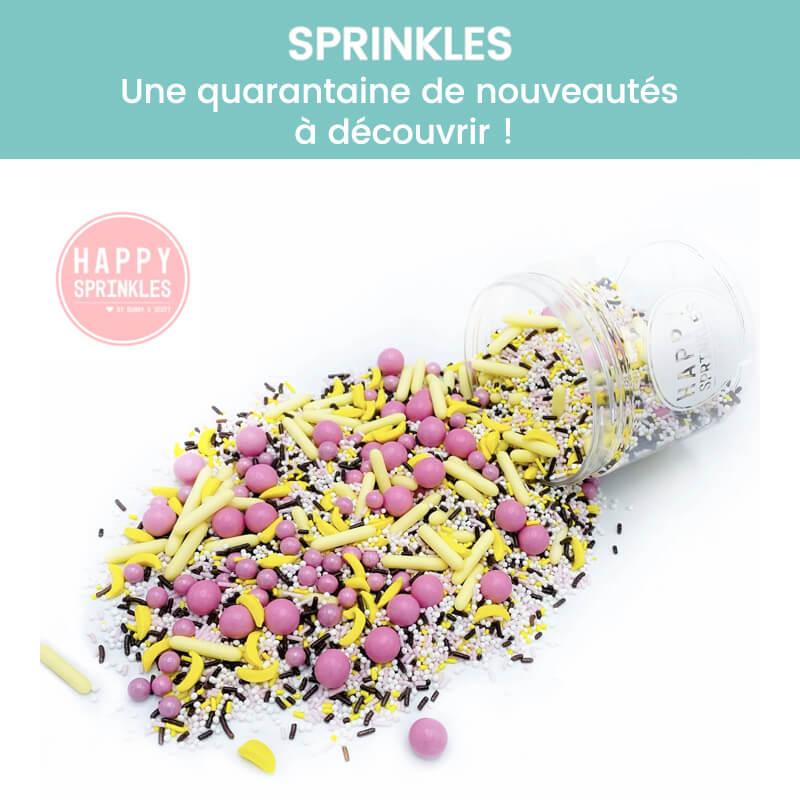 Décors comestibles et sprinkles pour gâteaux